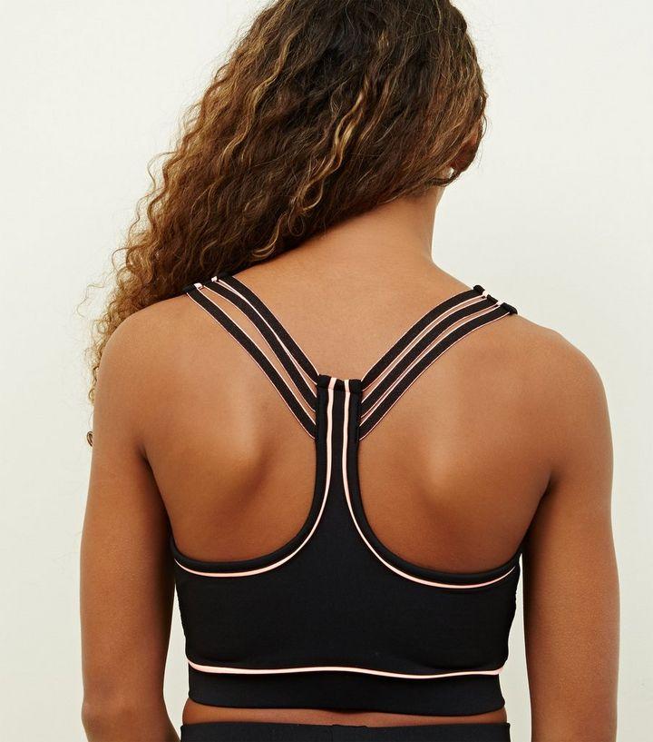 2691980e9c06b ... Girls Black Piped Sleeveless Sports Top. ×. ×. ×. 1