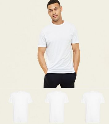 3 Pack White Crew T-Shirt