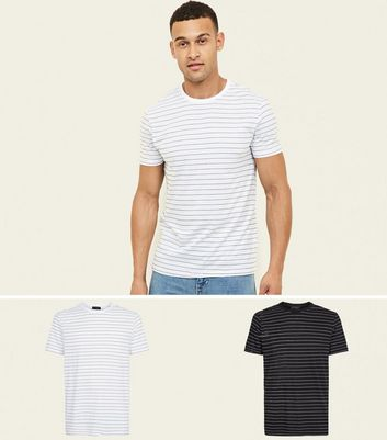Black And White 2 Pack Stripe T-Shirt