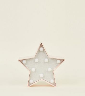 Pale Pink Mini Glitter Star LED Light