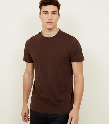 Dark Brown Crew Neck T-Shirt