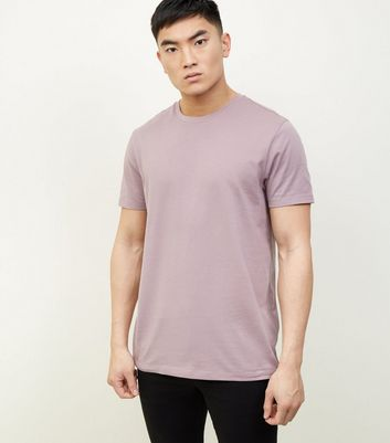 Light Purple Crew Neck T-Shirt