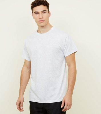 Light Grey Cotton Oversized T-Shirt