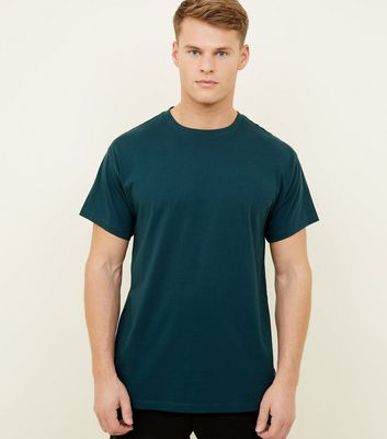 Teal Cotton Oversized T-Shirt