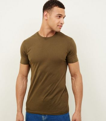 Khaki Muscle Fit T-Shirt