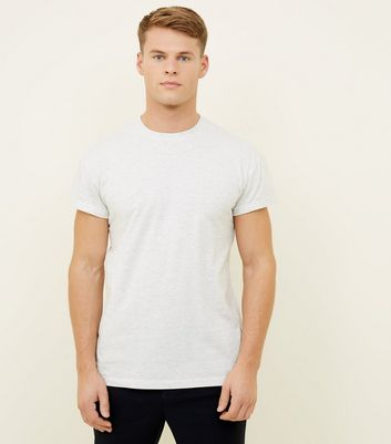Cream Rolled Sleeve T-Shirt