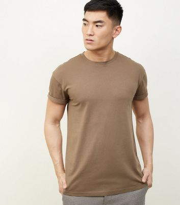 Mink Rolled Sleeve T-Shirt