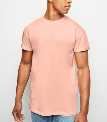Coral Rolled Sleeve T-Shirt