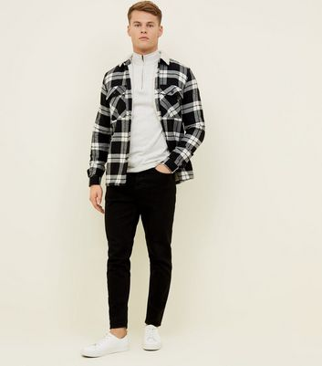 Black Check Borg Lined Shirt