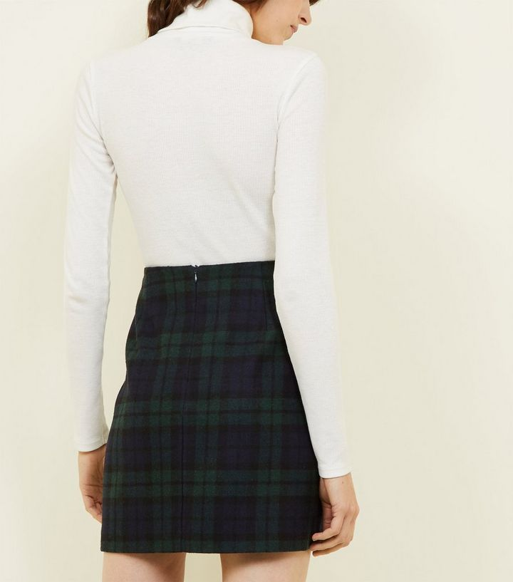 0750cef19d ... Dark Green Brushed Check Mini Skirt. ×. ×. ×. Shop the look