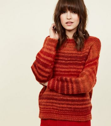 Bright Orange Ombré Stripe Jumper