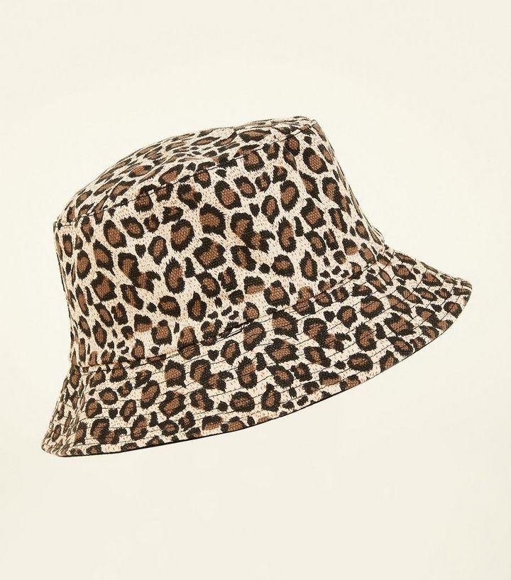 Mink Leopard Print Bucket Hat  91b75b8ff8cd