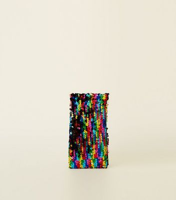 Rainbow Sequin Sunglasses Case