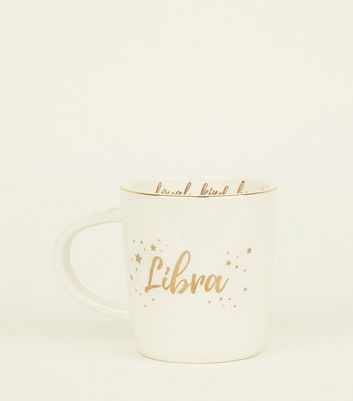 White Libra Star Sign Mug