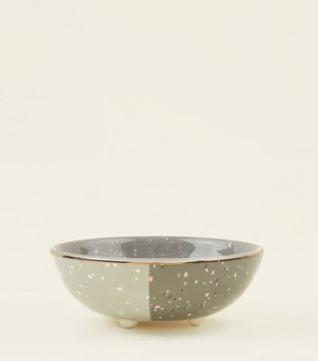 Dark Grey Colour Block Trinket Dish by New Look