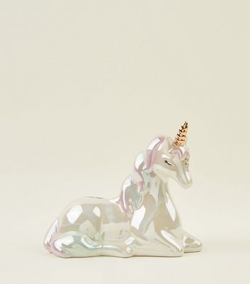 Multicoloured Rainbow Unicorn Money Box
