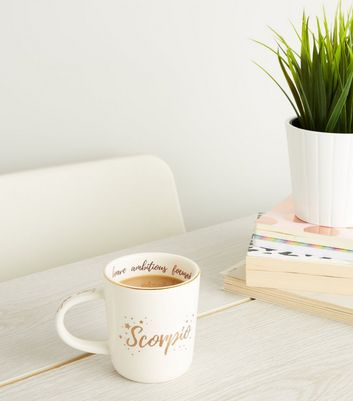 Cream Scorpio Star Sign Mug