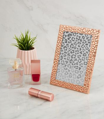 Rose Gold Hammered 6x4 Photo Frame