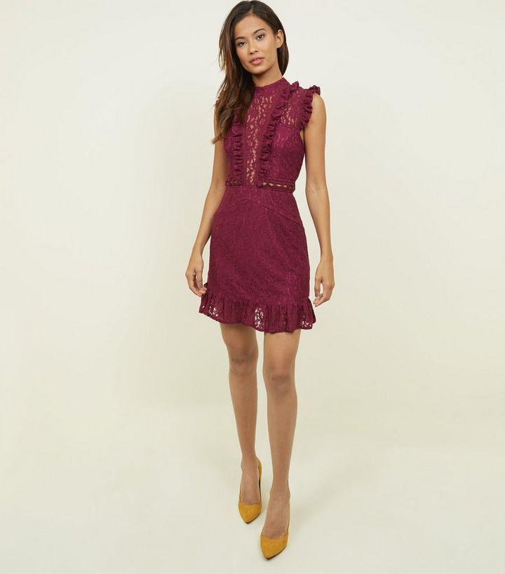 24222d77 ... AX Paris Burgundy Lace Frill Yoke Dress. ×. ×. ×. Shop the look