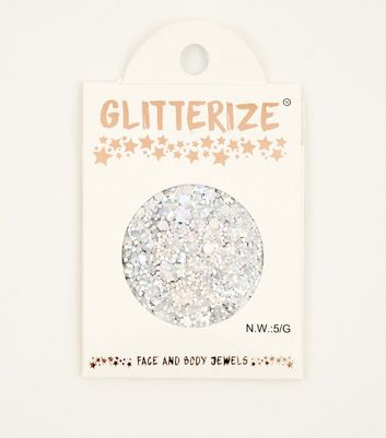 Glitterize Silver Holographic Face and Body Glitter