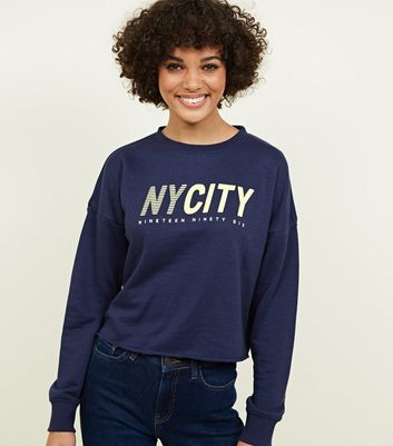 Sweat bleu marine NY City