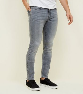 Pale Grey Skinny Stretch Jeans