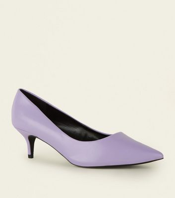 Wide Fit Lilac Kitten Heels