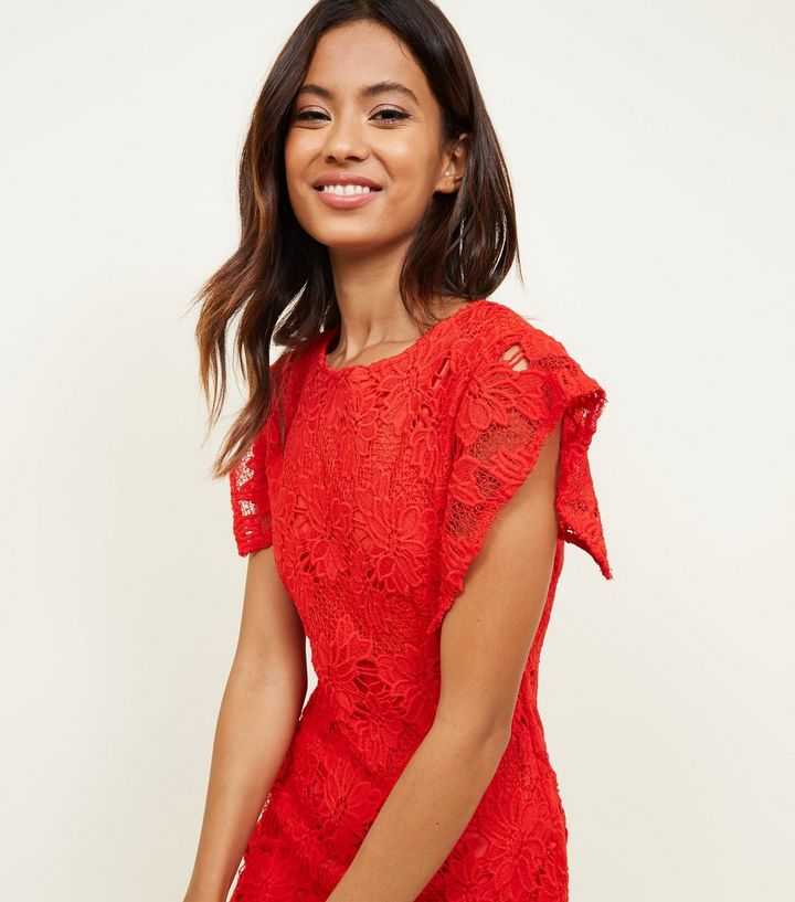 5d9fd58a7841 ... Red Crochet Lace Bodycon Dress. ×. ×. ×. Shop the look