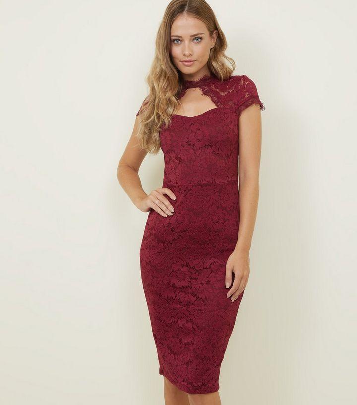 6fe3f4dd185c AX Paris Plum Lace Cut Out Bodycon Dress