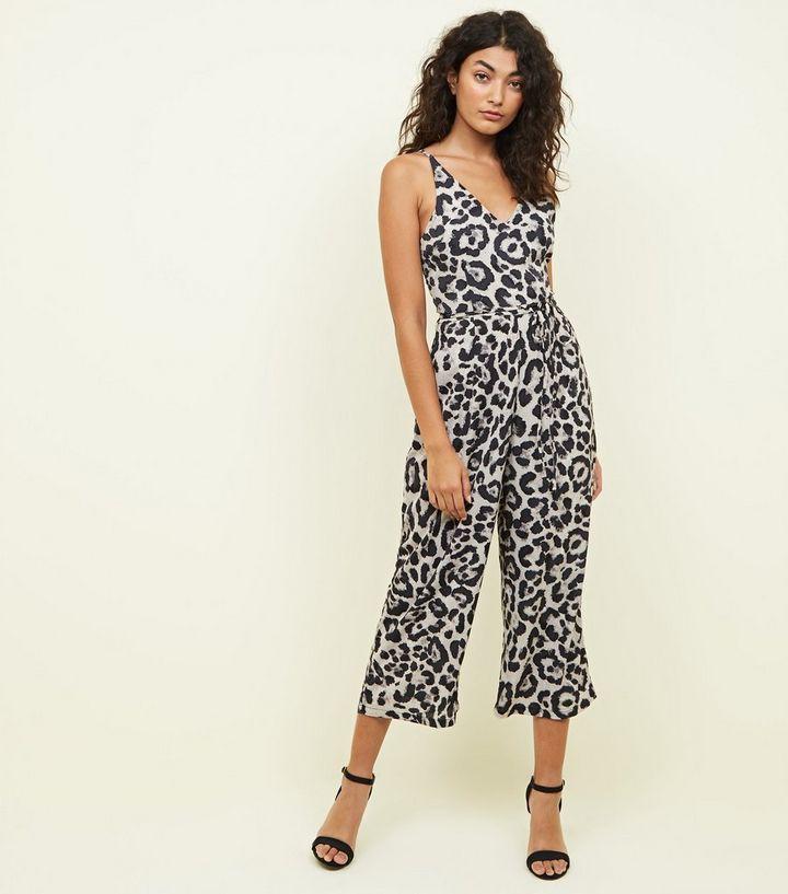 b00c6bbe697 AX Paris Brown Leopard Print Culotte Jumpsuit