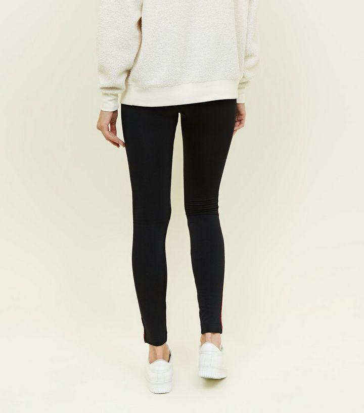 61df2dc236e38e ... Black Side Stripe Fleece Lined Leggings. ×. ×. ×. Shop the look