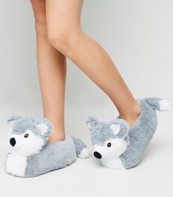 Girls Husky Faux Fur Slippers