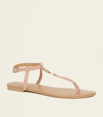Nude Suedette Studded Front Sandals