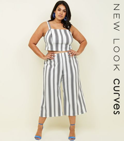 09237cfb16 Curves White Vertical Stripe Culottes · Curves White Vertical Stripe  Culottes ...