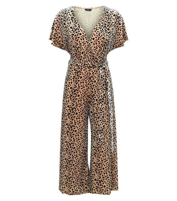 98c22b93b6f ... Brown Leopard Print Velvet Wrap Front Jumpsuit. ×. ×. ×. Shop the look