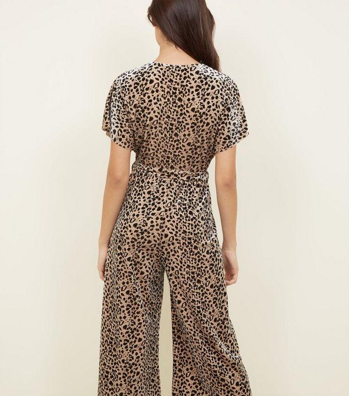 0f8e94d93b ... Brown Leopard Print Velvet Wrap Front Jumpsuit. ×. ×. ×. Shop the look