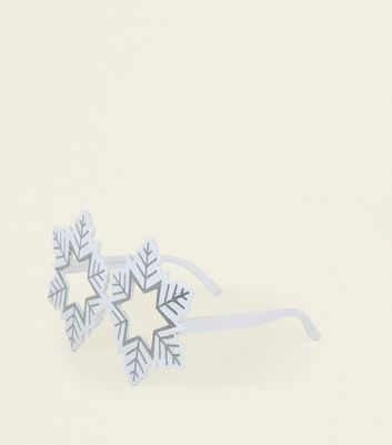White Christmas Snowflake Glasses