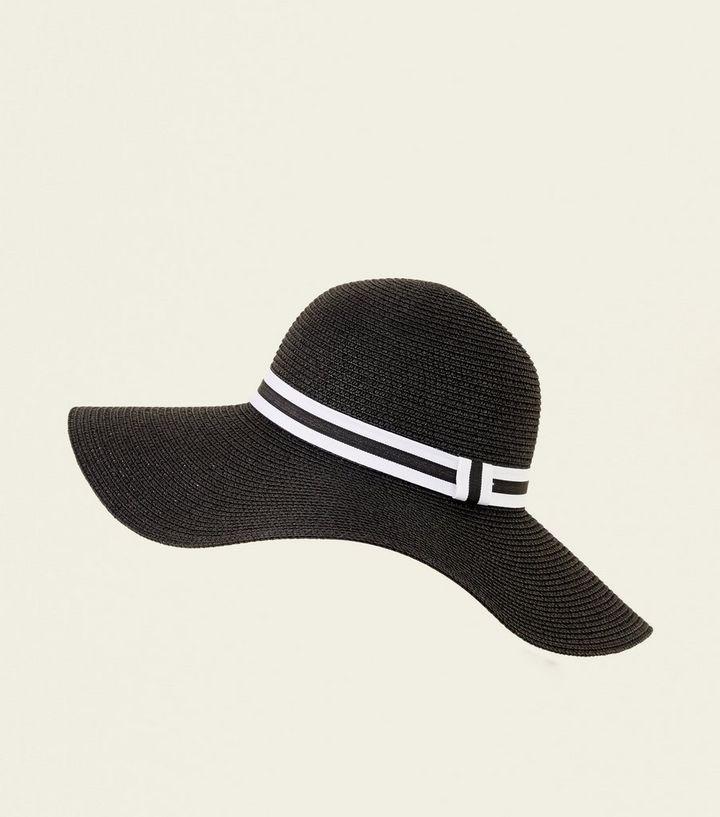 White Stripe Band Floppy Hat  ab1899941c9