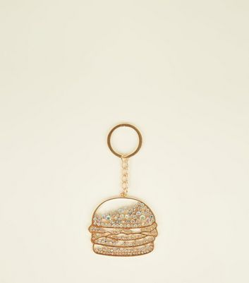 Gold Damanté Burger Keyring