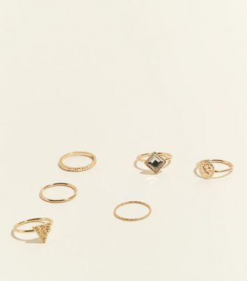 Gold 6 Piece Ring Stack