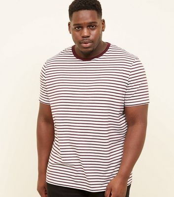 Plus Size Burgundy Stripe T-Shirt