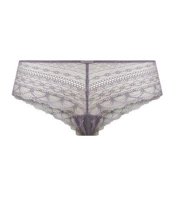 Light Purple Geometric Lace Short Briefs a4144d2ad