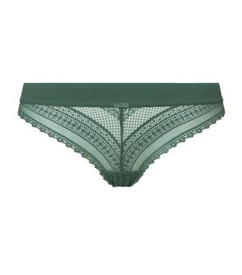 b2103026f2 Khaki Geometric Lace Thong