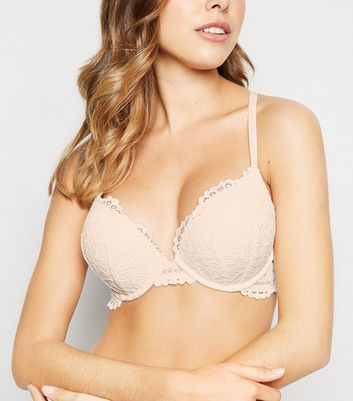 Cream Lace Boost Bra
