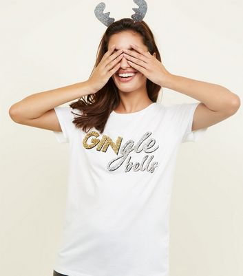 Off White Gingle Bells T-Shirt