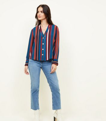 Black Multi Colour Stripe Long Sleeve Shirt