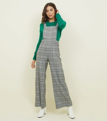 Light Grey Prince of Wales Check Dungarees