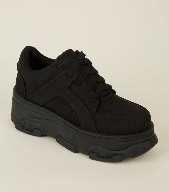 Black Chunky Platform Runners
