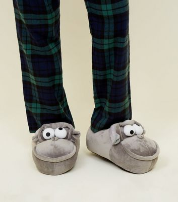 Grey Gorilla Slippers