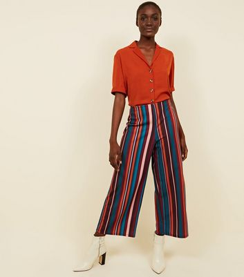 Tall Multi Stripe Scuba Cropped Trousers